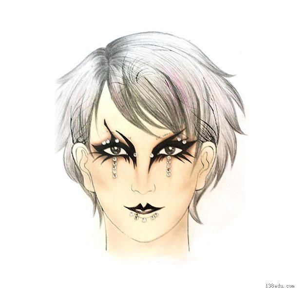 手绘妆面设计图