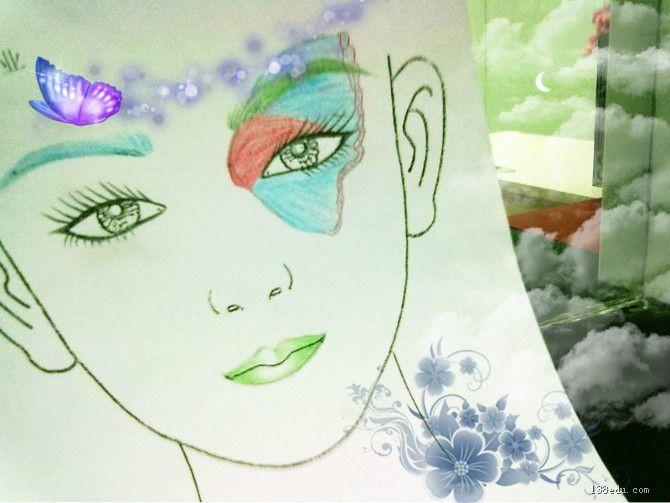 素描妆面设计图图片 妆面设计素描图,新娘素描妆面图片