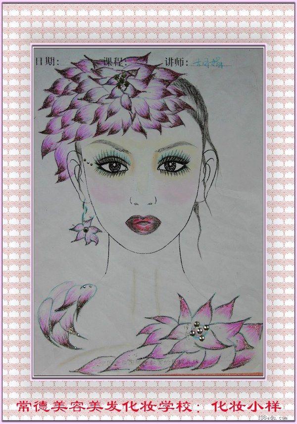 彩铅古风美女手绘图