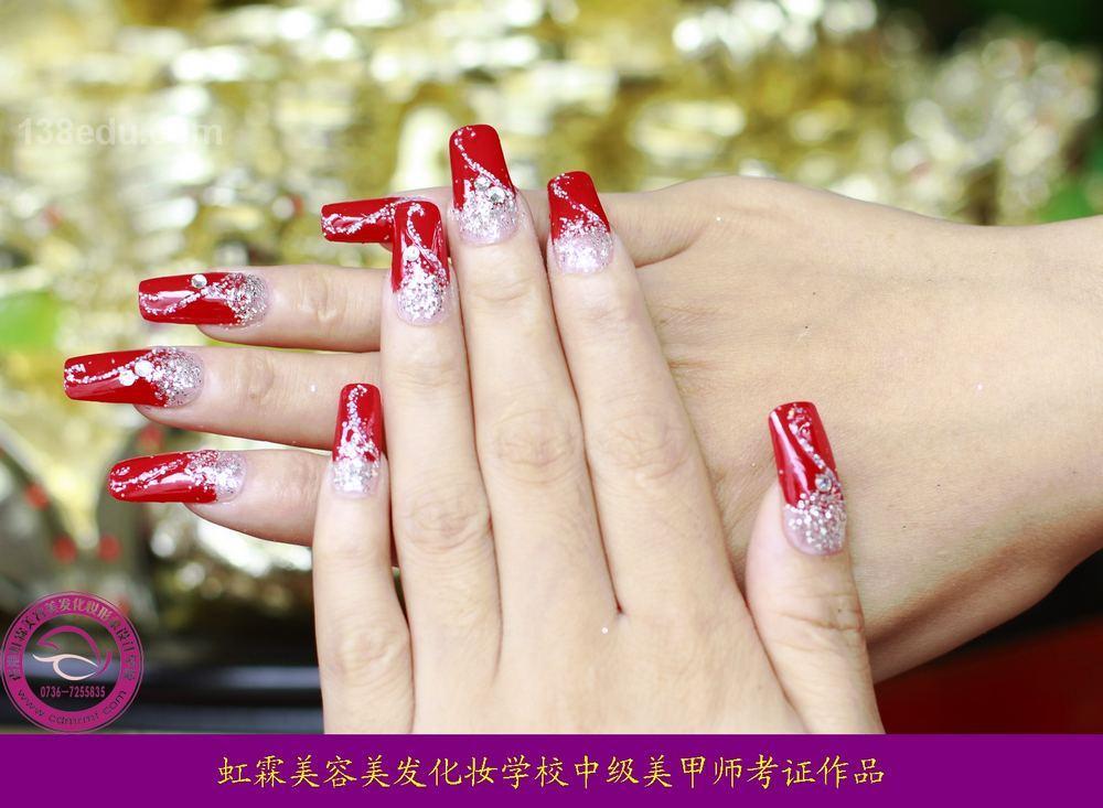 美甲纹绣-美容美发化妆作品信息-138中国美妆培训网图片