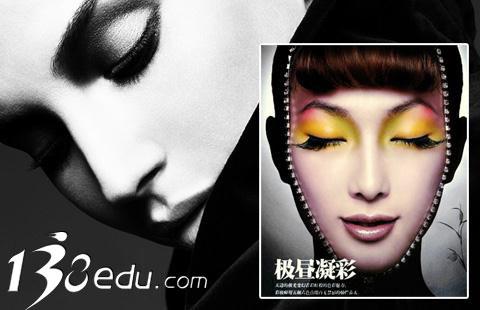 齐刘海礼服造型图片分享; 芭比妆创意彩妆发型;