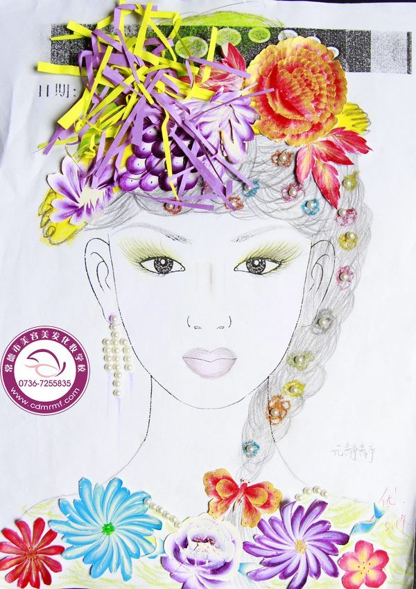 化妆小样素描 常德市虹霖 香港 美容美发化妆形象设计职业