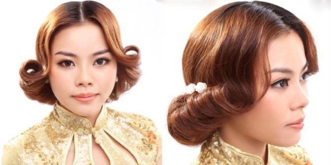 留海新娘发型步骤